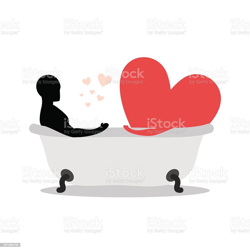 Amore In Vasca Da Bagno.Cuore Di Uomo Di Vasca Da Bagno Uomo E Il Simbolo Di Amore Prendendo