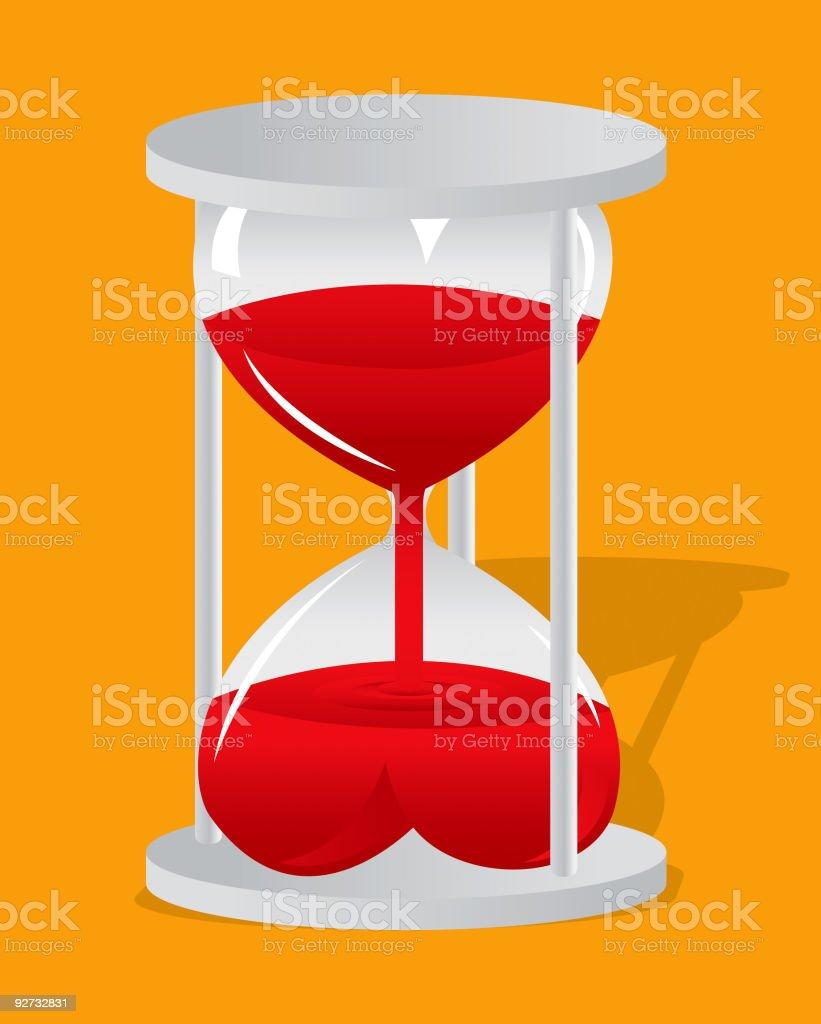Heart of Time vector art illustration