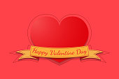 Heart of valentine day for background.vector and illustration