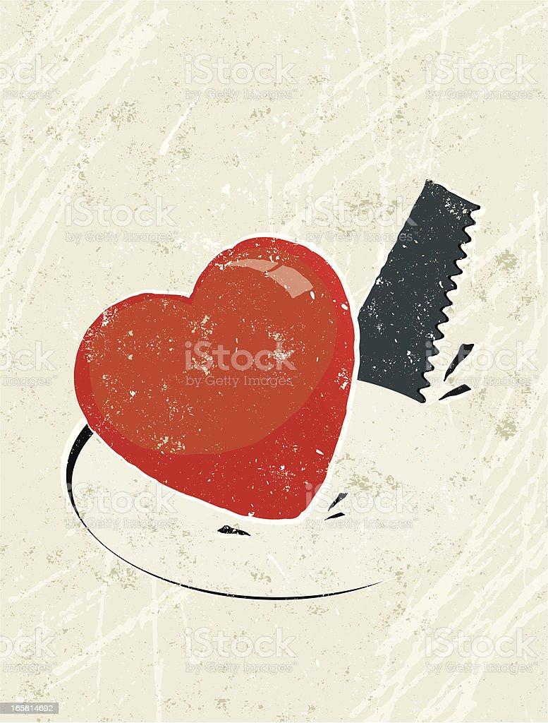 Heart on Hole Cut by a Saw royalty-free heart on hole cut by a saw stock vector art & more images of burglar