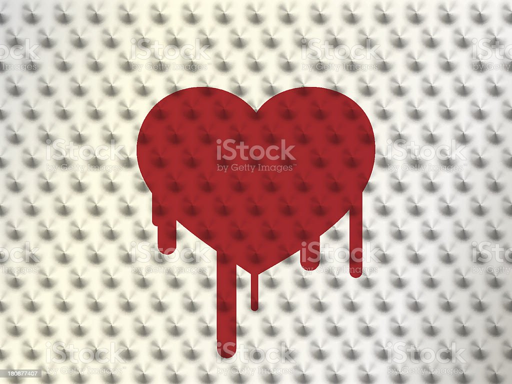 heart on thorns with blood royalty-free stock vector art