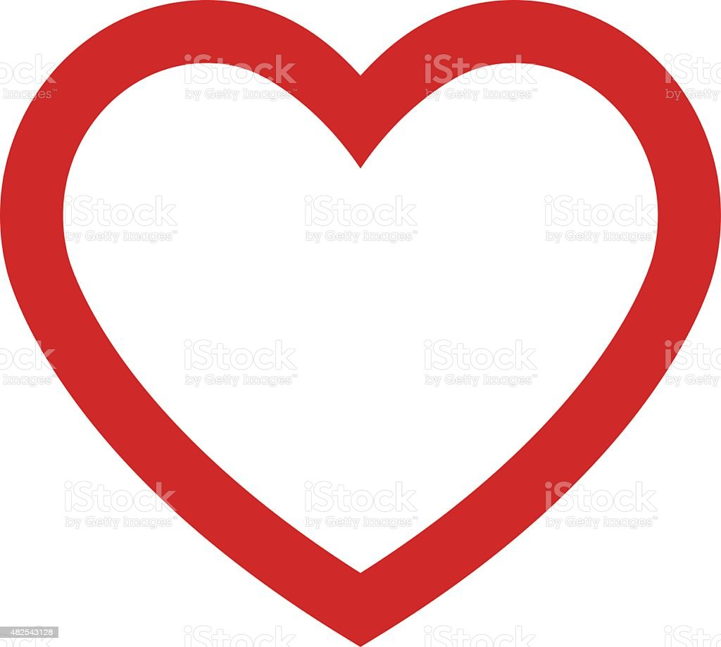 Heart outline icon, modern minimal flat design style. Vector illustration vector art illustration