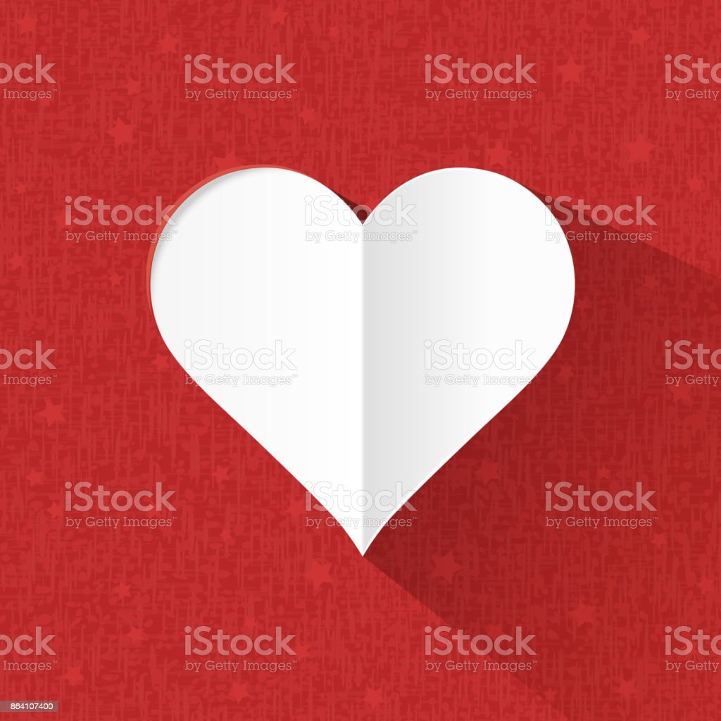Heart paper on red background royalty-free heart paper on red background stock vector art & more images of abstract