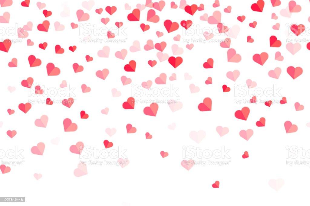 heart pattern for valentine background valentine card stock vector