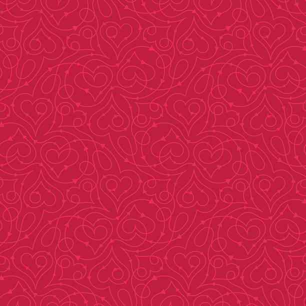 wzór w serca - kartka na walentynki stock illustrations