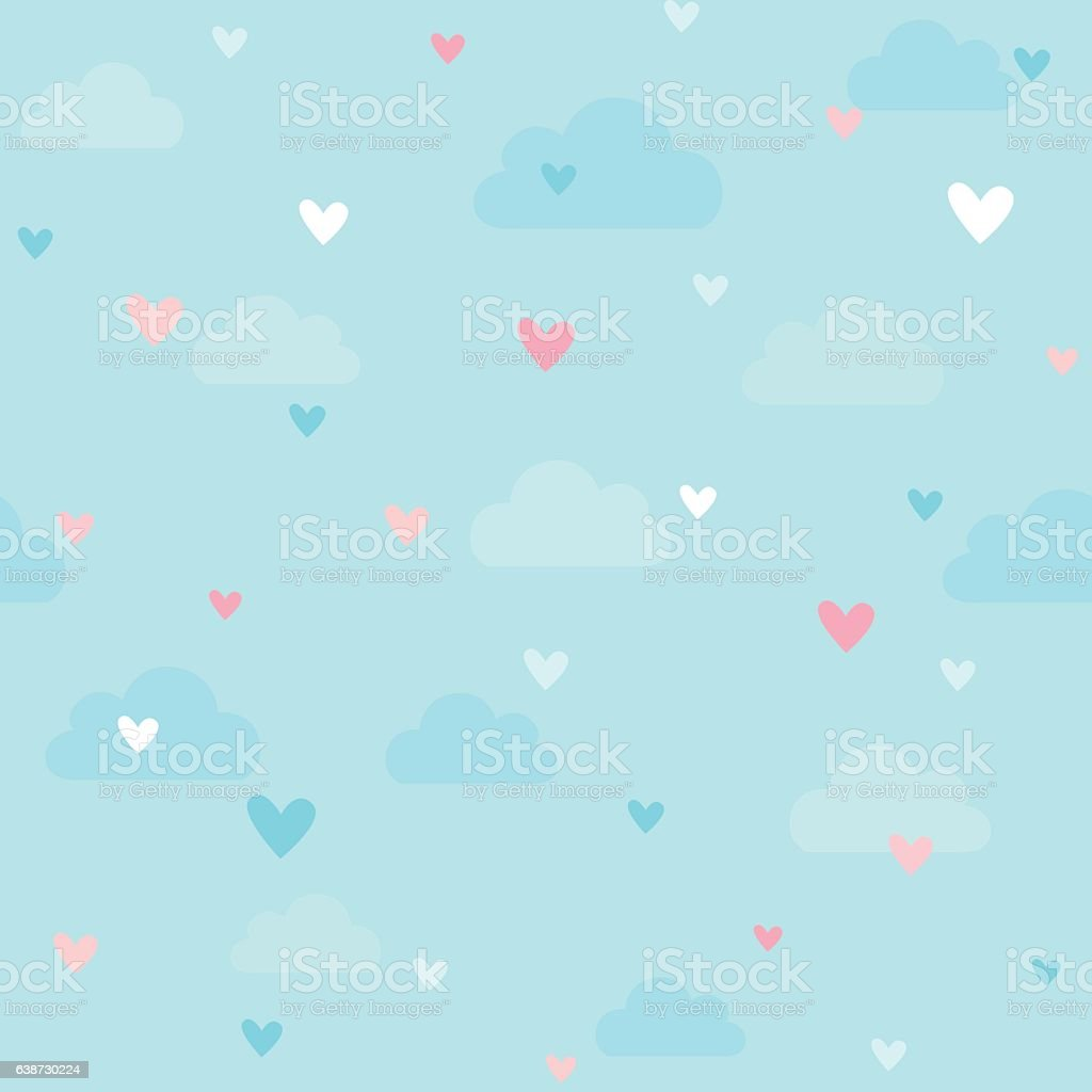 heart pattern vector art illustration