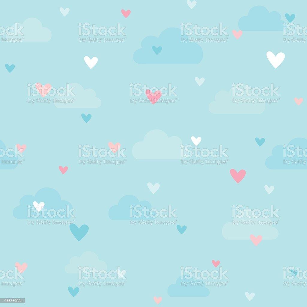 Motif à cœurs - Illustration vectorielle