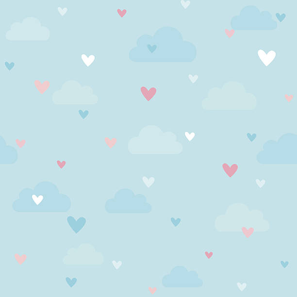 heart pattern - cute stock illustrations