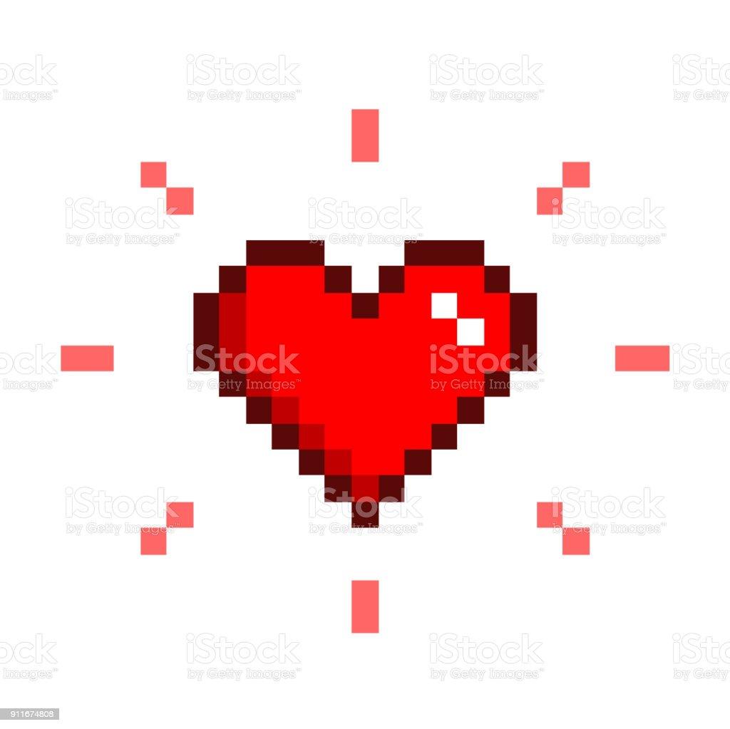 Coeur Pixel Art Vecteurs Libres De Droits Et Plus Dimages