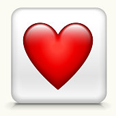 Heart Playing Cards Symbol Button