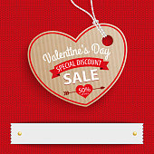 Price sticker for a Valentines Day Sale. Eps 10 vector file.