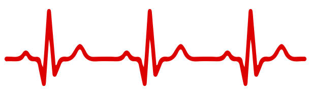 heart pulse, one line, cardiogram - stock vector - rytm stock illustrations