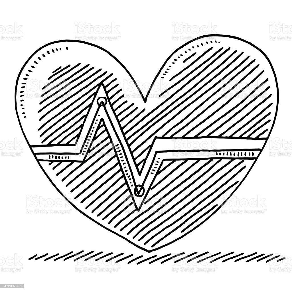 Heart rate graph symbol drawing stock vector art more images of heart rate graph symbol drawing royalty free heart rate graph symbol drawing stock vector art biocorpaavc Choice Image