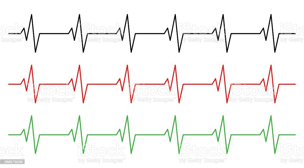 Heart Rhythm Ecg Line Vector Symbol Icon Design Stockvectorkunst En