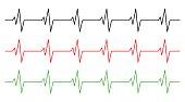 heart rhythm, ecg line vector symbol icon design.