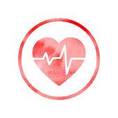 Heart rhythm medical icon