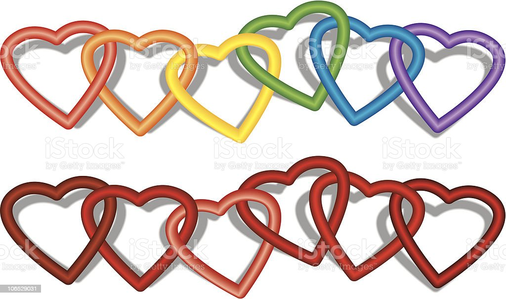 Heart Rings royalty-free stock vector art