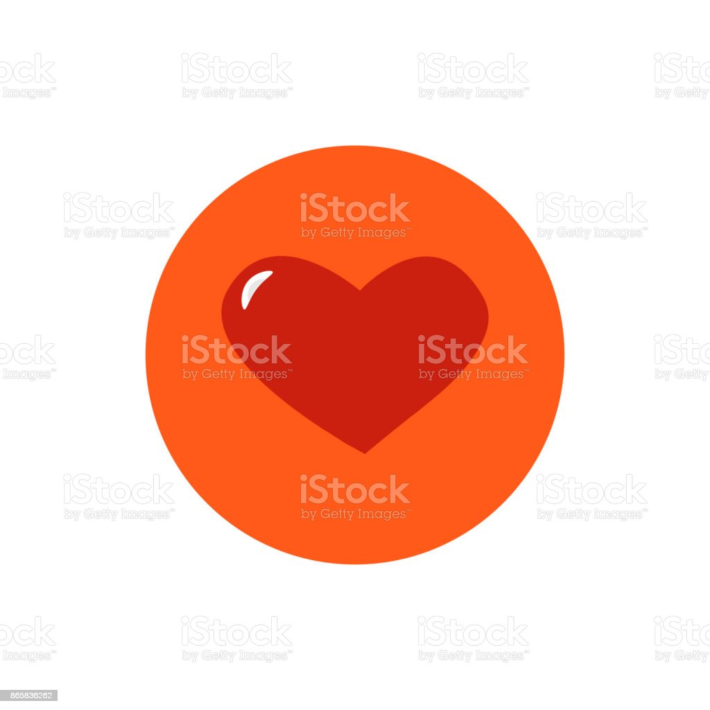 Heart round icon vector