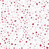 Heart seamless background. Valentine day background. Vector