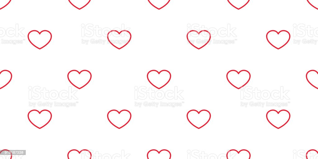 Heart Seamless Pattern Valentine Day Vector Isolated Love Icon Background Wallpaper Red Royalty Free