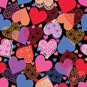 istock Heart seamless pattern . 1202472580