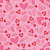 Vector heart seamless pattern .