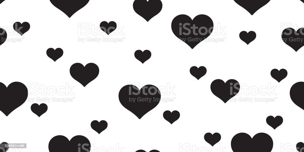 Heart Seamless Pattern Vector Valentine Gift Wrap Tile Background