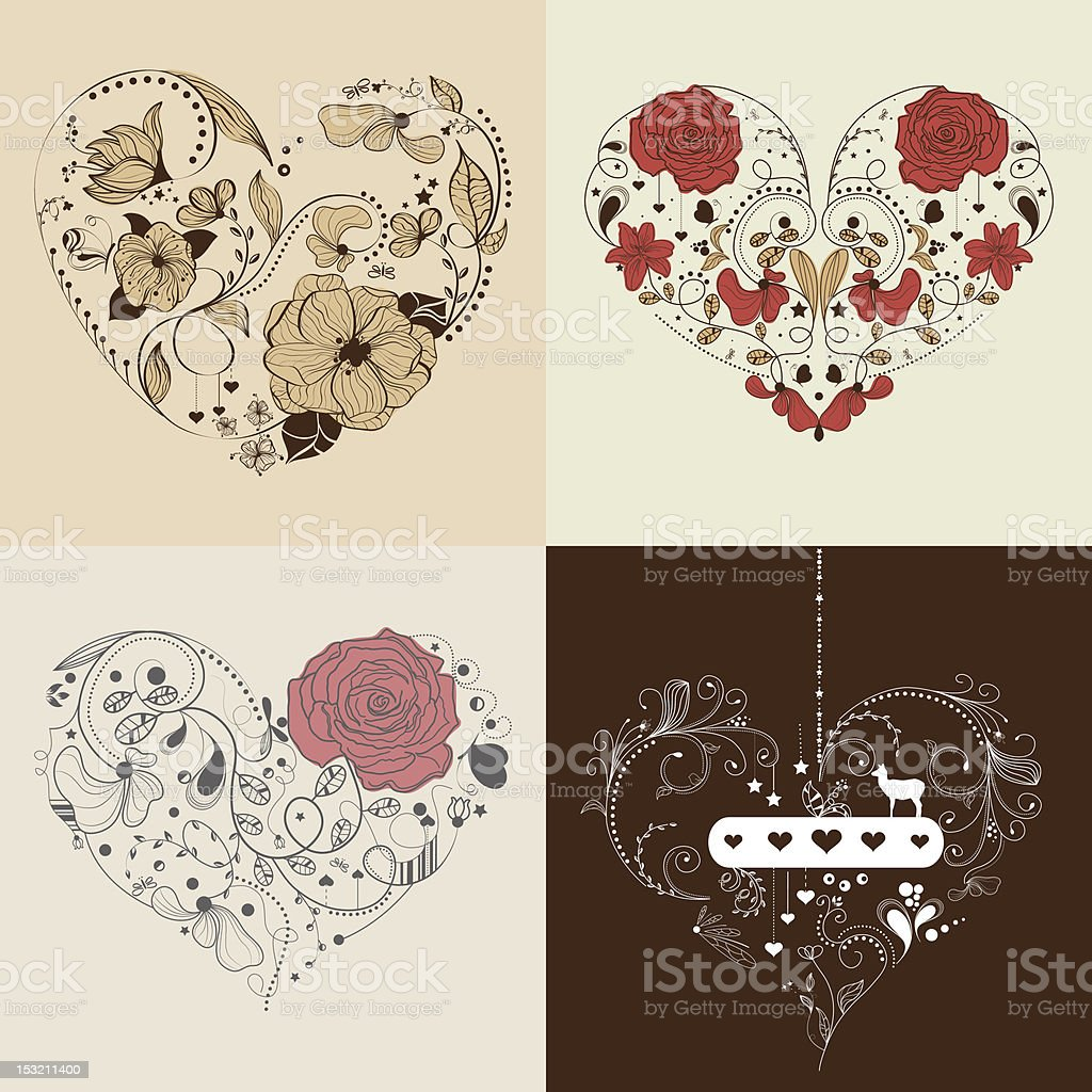 Heart set royalty-free stock vector art