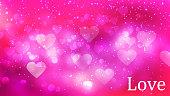 Heart Shape Bokeh Background