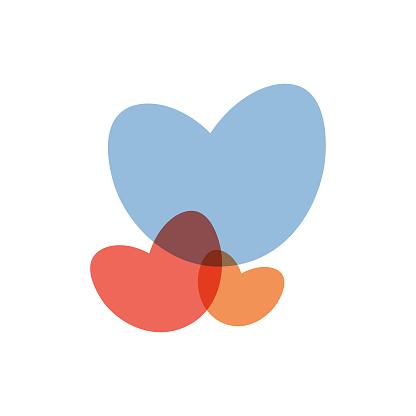 Heart shape design concept