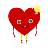 Cute heart character