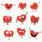 Heart shape emoticons