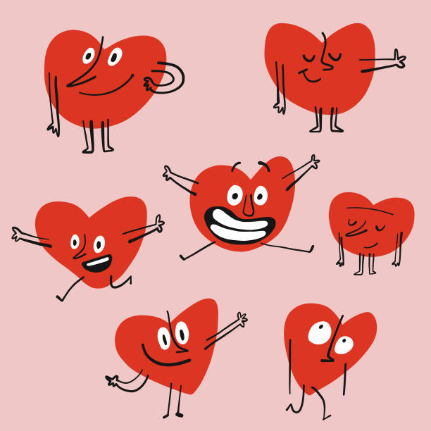ilustrações de stock, clip art, desenhos animados e ícones de heart shape emoticons - future hug