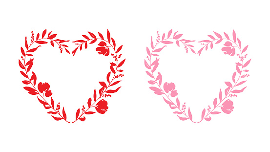 Heart Shape Floral Wreaths