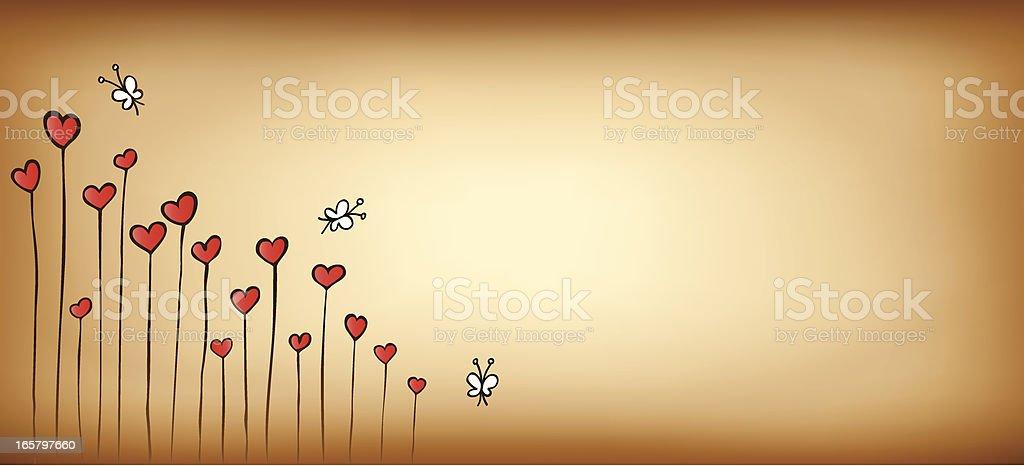 heart shape flower background illustration royalty-free stock vector art