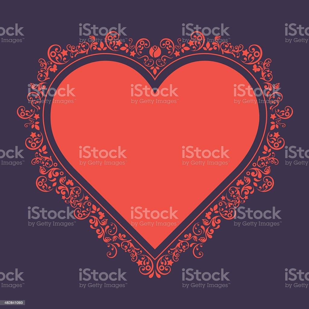 Serce kształt ramy. - Grafika wektorowa royalty-free (Barok)