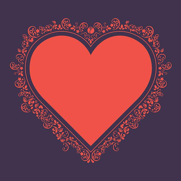 Serce kształt ramy. – artystyczna grafika wektorowa