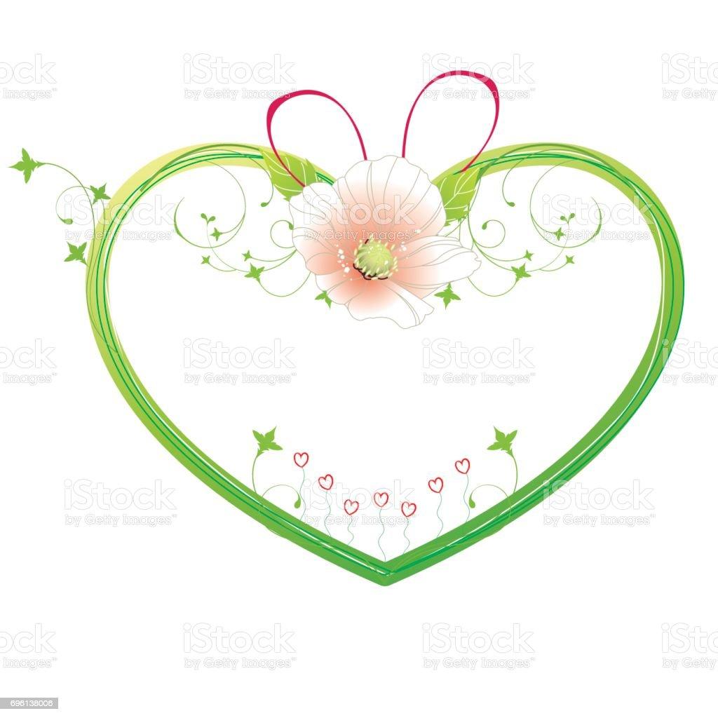 Chassis De Forme Coeur Avec Fleur Cliparts Vectoriels Et Plus D