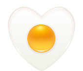 Heart shape fried egg icon