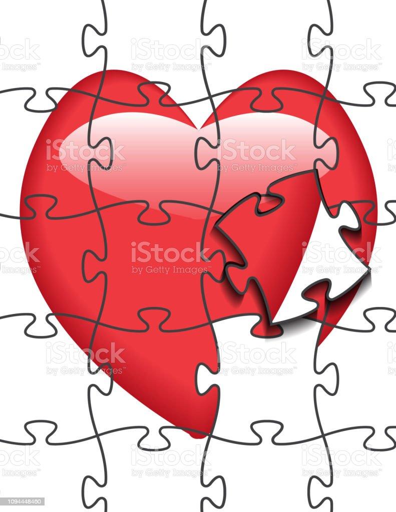 Kalp Sekli Kalp Vektor El Cekilmis Simgesi Beyaz Arka Plan