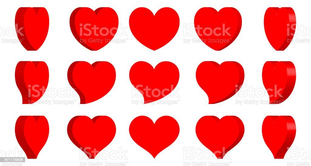 Heart Shape Icon Turn Around Sign Symbol Silhouette Love Healthy