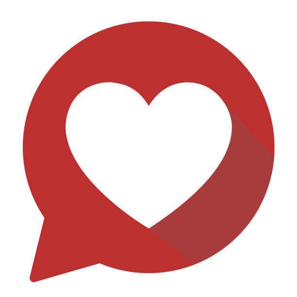 heart shape icon - heart stock illustrations