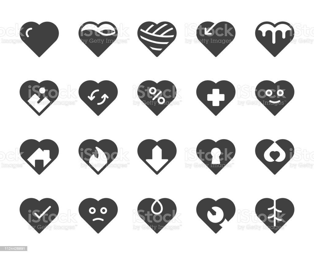 Heart Shape - Icons vector art illustration