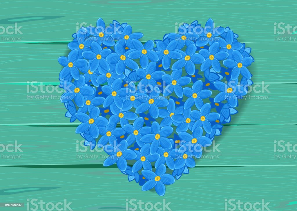 heart shape made from forget-me-not royalty-free heart shape made from forgetmenot stock vector art & more images of abstract