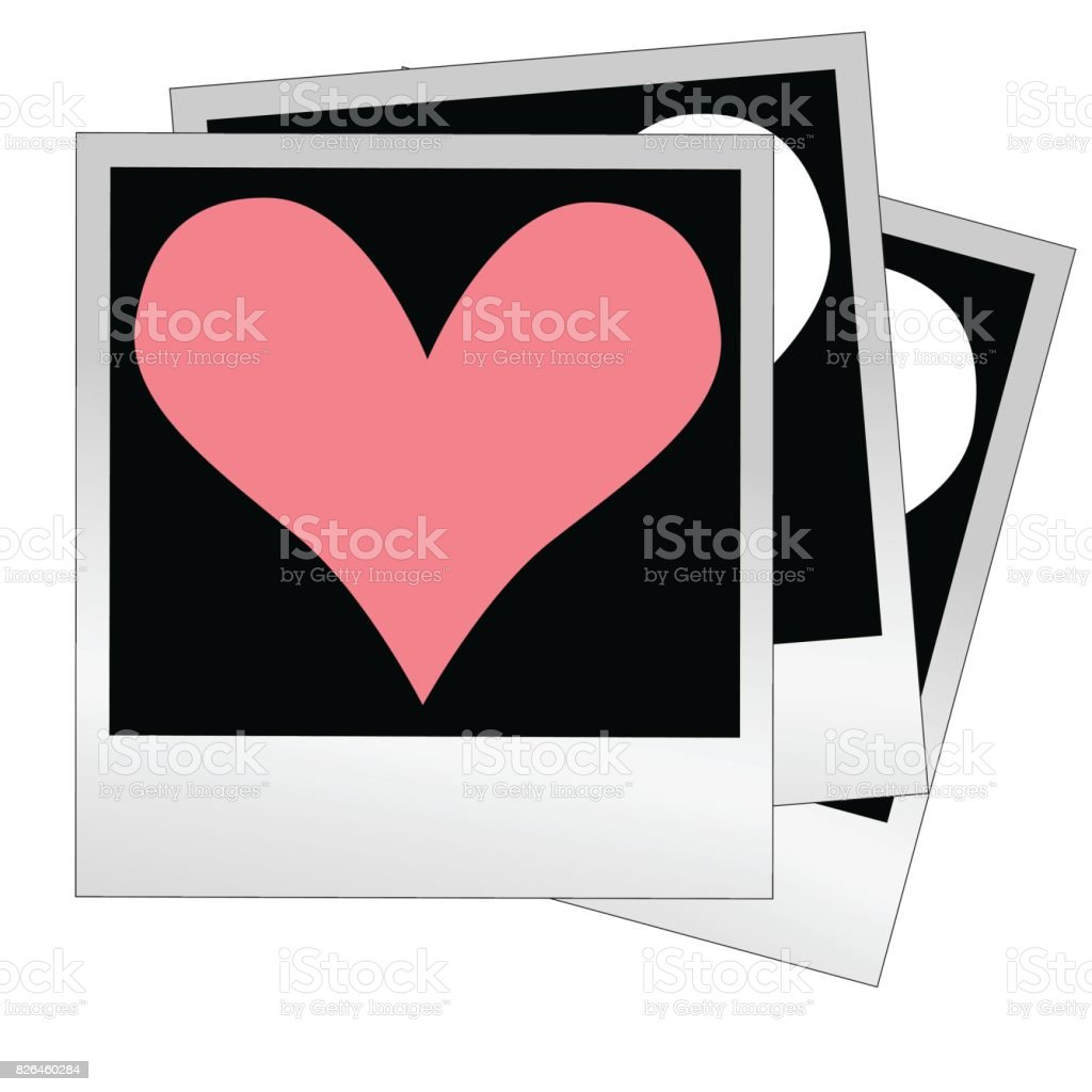 beff167dedb Heart Shape Made From Photo Frames Insert Your Photos Vector Stock ...