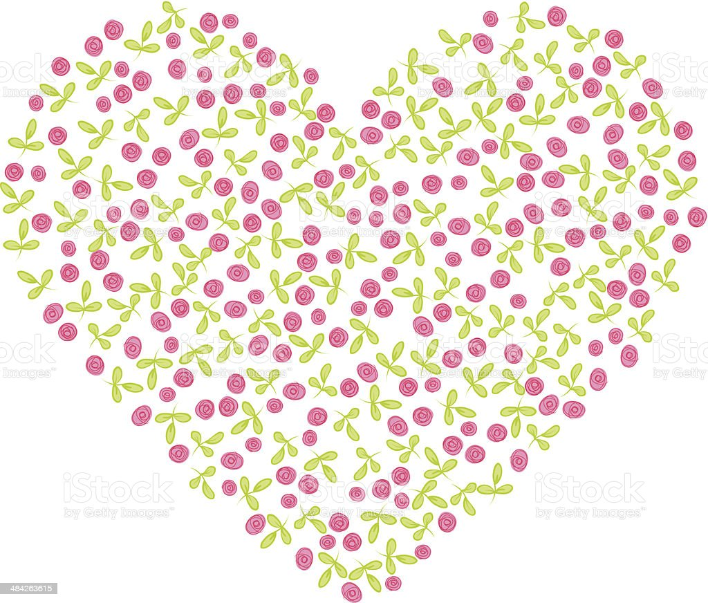 Heart shape made with flowers royalty-free heart shape made with flowers stock vector art & more images of color intensity