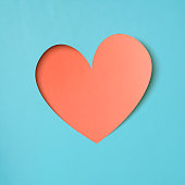 Heart shape paper art valentines day design