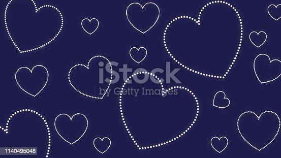 Heart shape patterns background