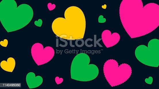 Heart shape patterns background