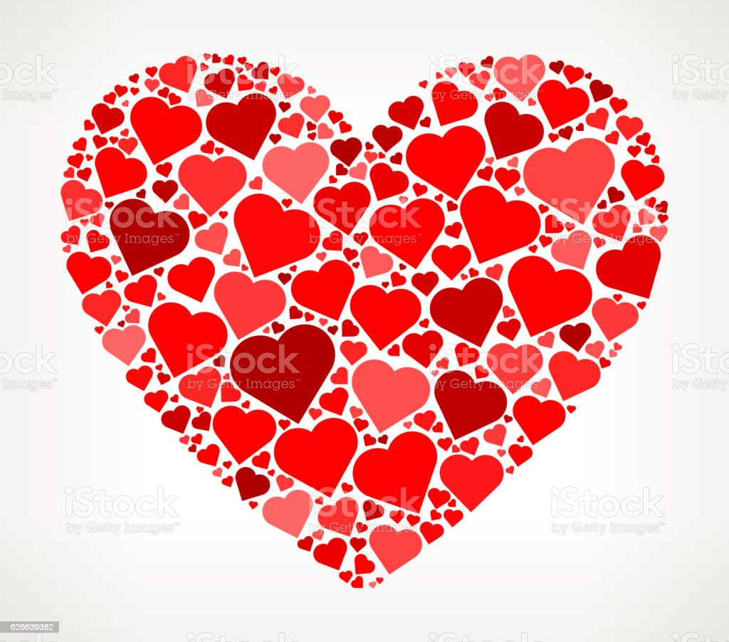 Heart Shape Red Hearts Love Pattern royalty-free heart shape red hearts love pattern stock vector art & more images of affectionate